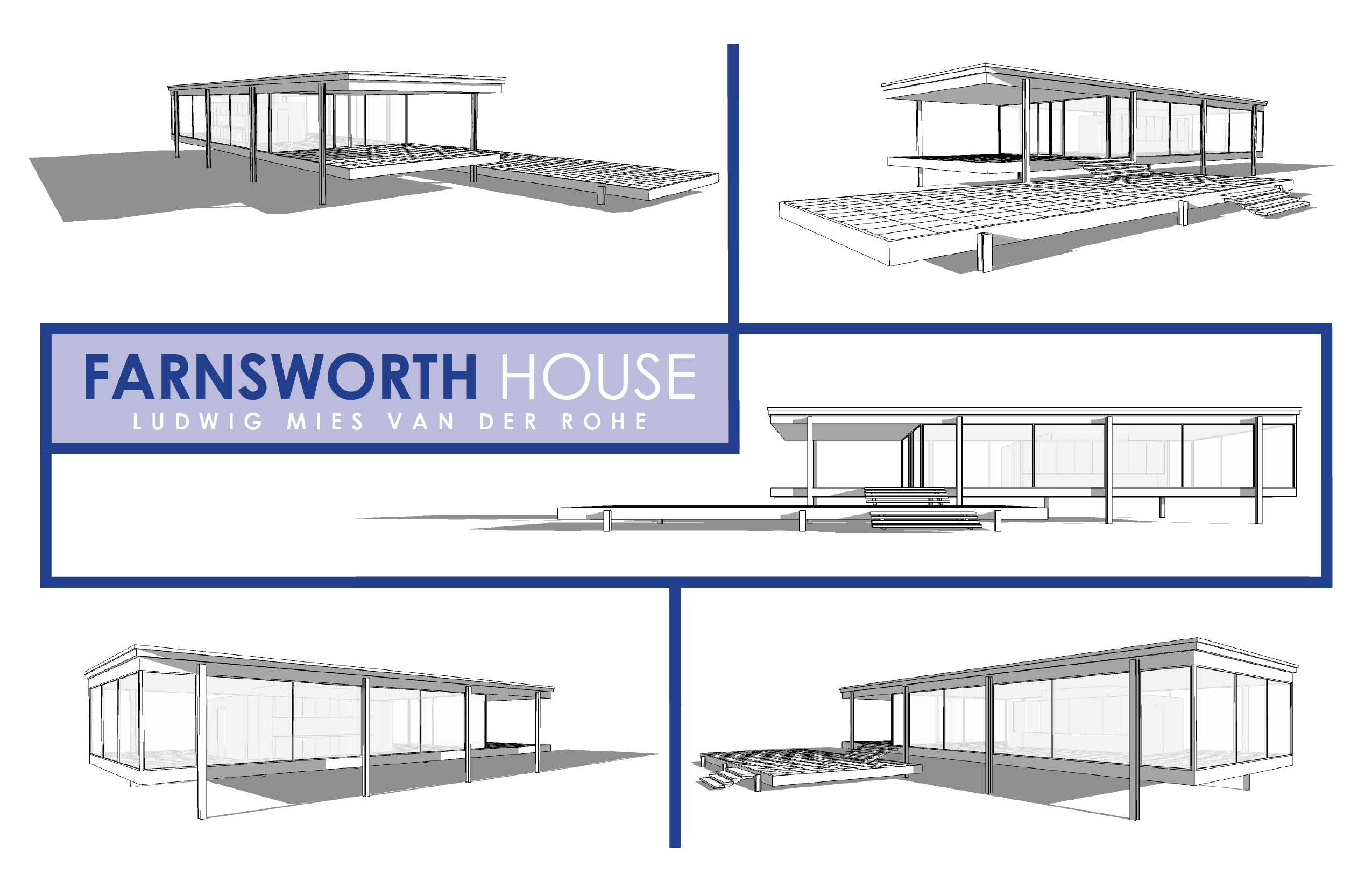 farnsworth house dimensions the image kid has it. Black Bedroom Furniture Sets. Home Design Ideas