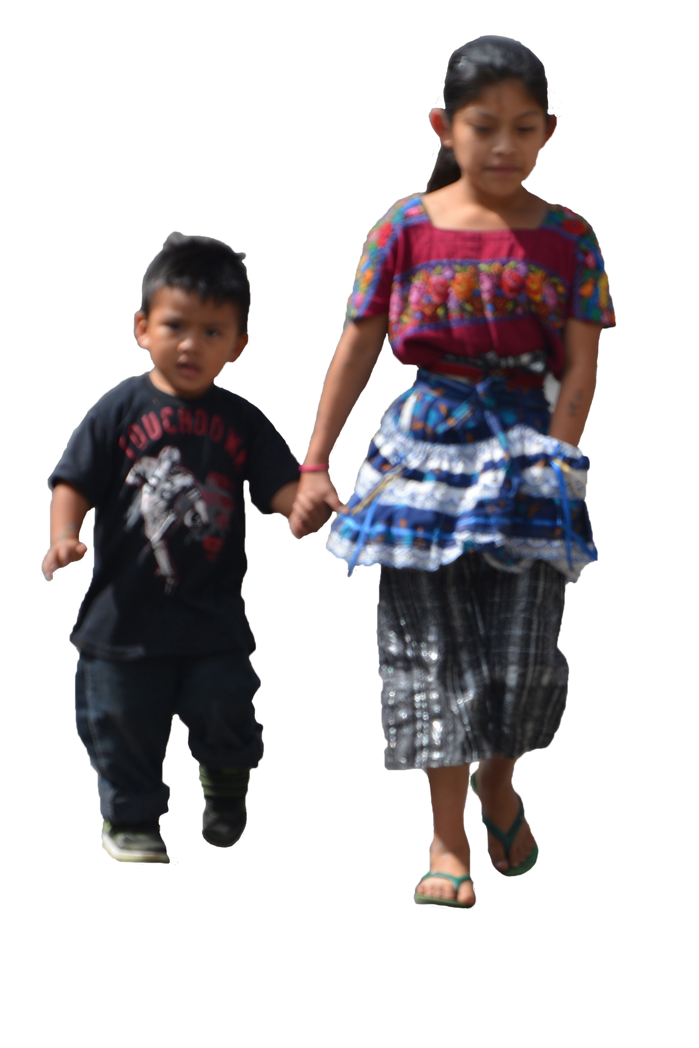 Exercise 109 – Brother & Sister walking while holding ...